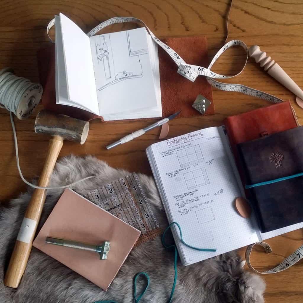 How to be a better hobbyist with the bullet journal leather craft supplies | Littlecoffeefox.com