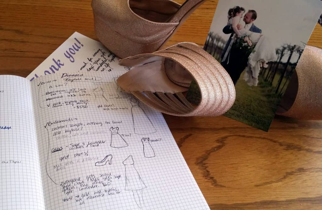 Planning a Wedding in the Bullet Journal Part Two: Attire shoes detail | Littlecoffeefox.com