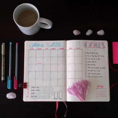 Setting up a New Bullet Journal Monthly Spread – June