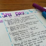 Planning Your DIY Spa Day in Your Bullet Journal