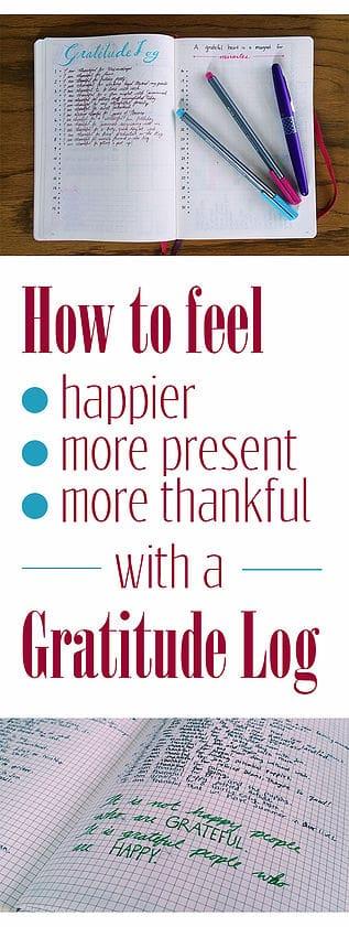 How to start a gratitude log!