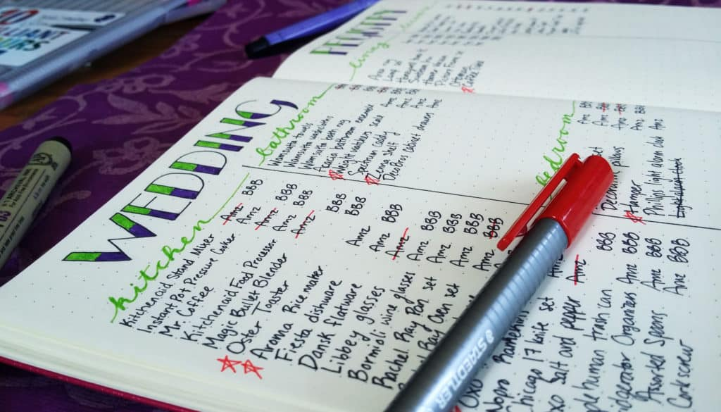Planning A Wedding In The Bullet Journal Part 3: The