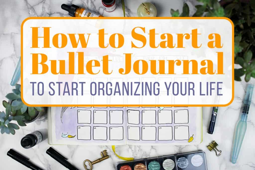 how to start a bullet journal cover photo