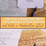 image collage of letter writing with text The Top 4 Reasons Why You Should Ditch Digital and Write a Handwritten Letter