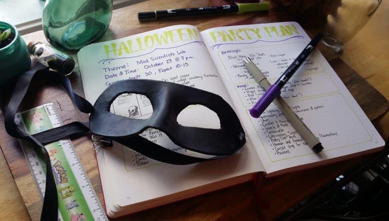 Bullet Journal Party Planner – Let's Do Halloween!