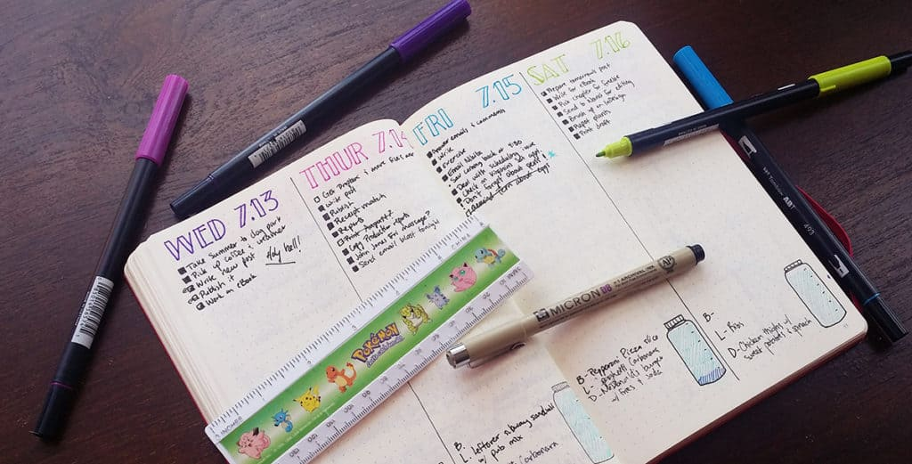 Daily entries in the bullet journal are a huge aspect of many people's planning routines. I decided to shake things up and try vertical dailies, and it was awesome! Here's my comparison of both methods.