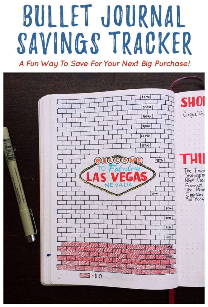 Bullet Journal Savings Tracker Cover Photo and Pin