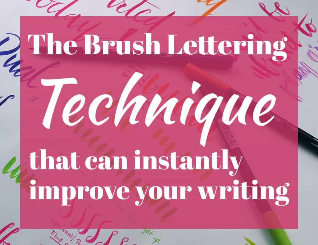 Brush Lettering Tips Cover Photo