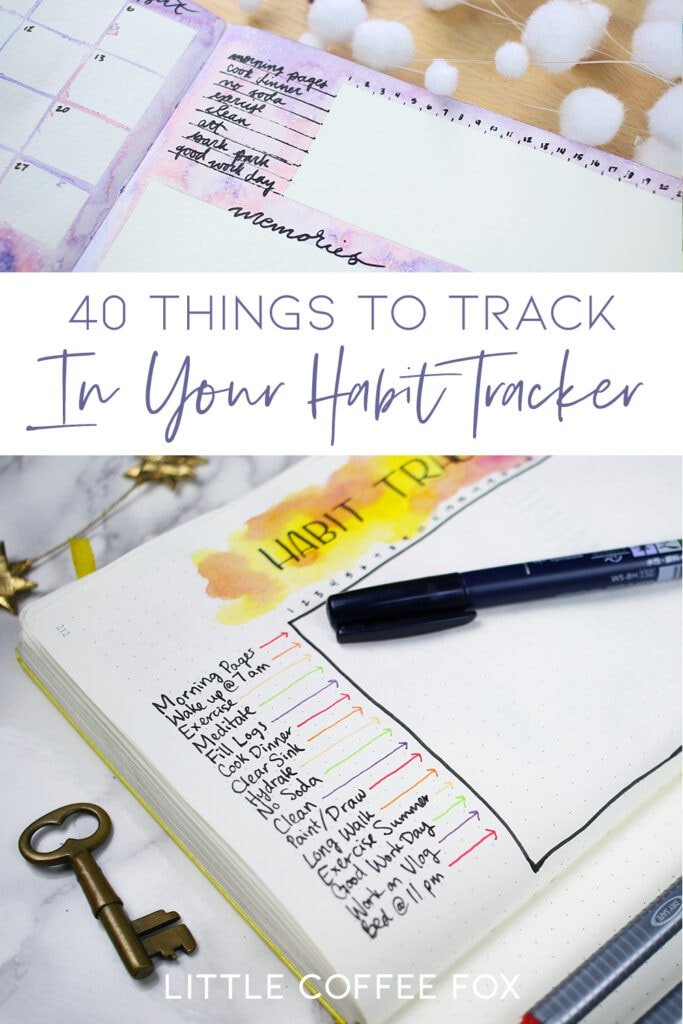 40 Things to Track in Your Habit Tracker + Free Printable