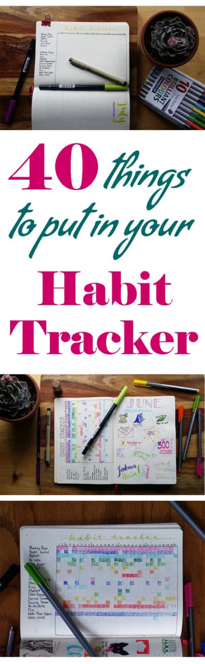 Do you want to break bad habits and build good ones? A habit tracker is the perfect way to work from a daily level in building better habits