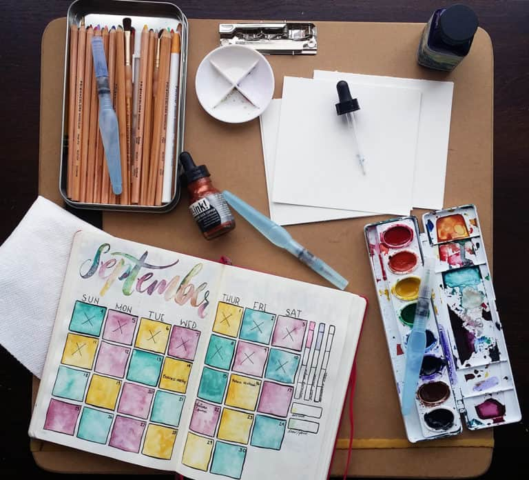How to Use Watercolors in Your Planner – A Simple Water Brush Pen Tutorial