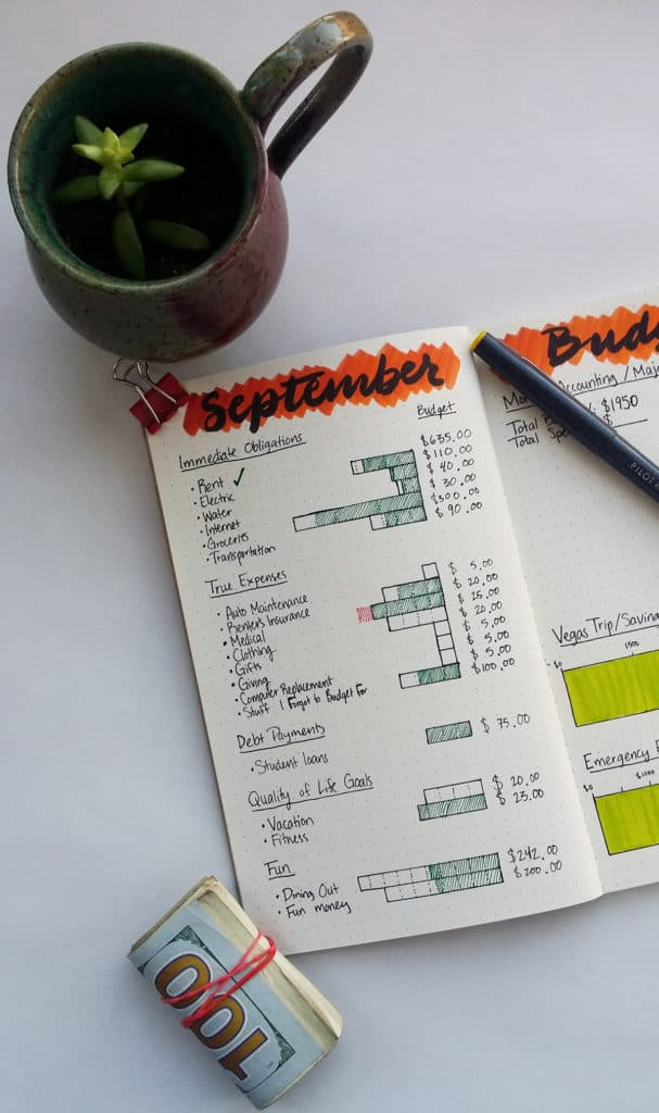 Keeping a budget is vital for saving money and preparing for the future. But it is hard sometimes to look at our finances with a sharp eye because money (or lackthereof) is a scary thing. It's easier to use a happy blend of digital and paper systems to help you create and keep your perfect budget. For me, a pen and paper financial planner is just what I need to stay on it and take my finances seriously.