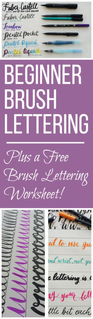 Beginner Brush Lettering - The Basic Tools and Techniques
