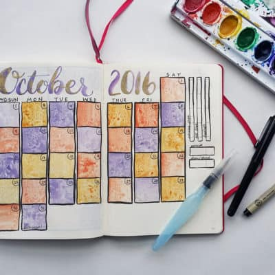 Bullet Journal Monthly Spread – October is Here!