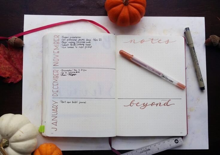 How to Build a Bullet Journal Future Log