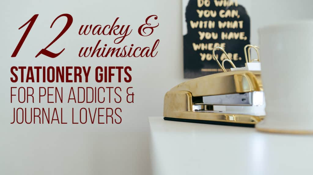 Getting gifts for enthusiasts can be really hard, but it doesn't have to be! Grab some whimsical stationery gifts to tickle your pen obsessed friends!