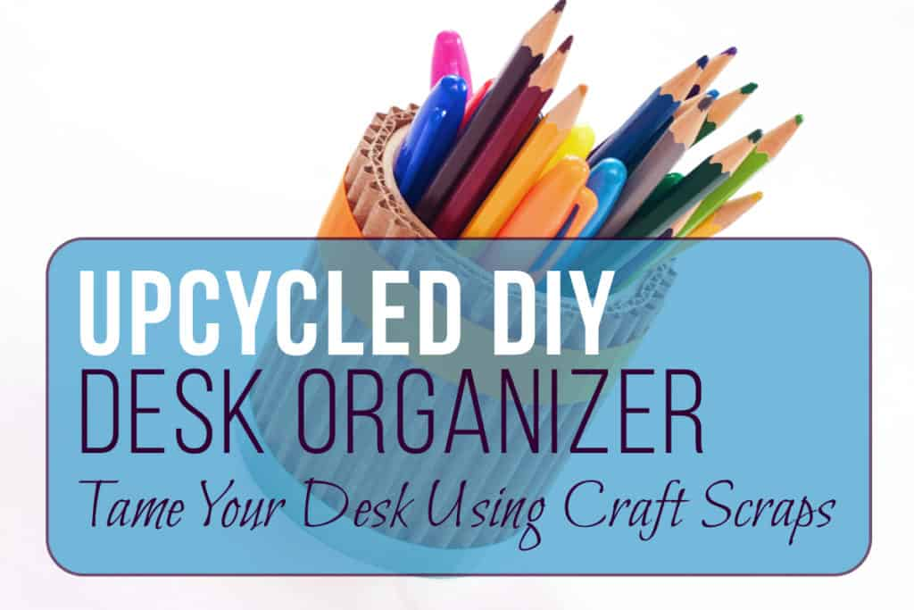 If you're anything like me, your desk gets out of hand quick. I have a million pens and pencils running around at any given time, and it's so hard to stay organized! That's why I decided to take care of it using craft scraps that I had lying around to create an upcycled DIY desk organizer. It turned out to be super rustic and cute - not to mention it helped me get my desk under control! And on top of everything else, this was ridiculously cheap!