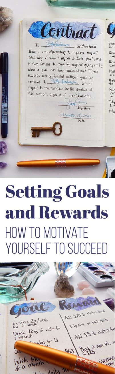 Setting goals is easy, but it's much harder to accomplish those goals. There are lots of methods for going about this task, but I have always found that one simply needs the proper motivation. That's why I set goals and rewards! Here's how I use this simple trick to push myself toward success. #goalsetting #bulletjournal #goals