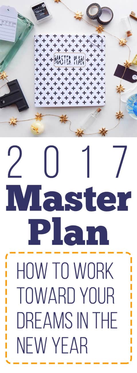 It's time to set your eyes to the future and see how you can tackle your goals with a 2017 master plan. This is your year to plan!