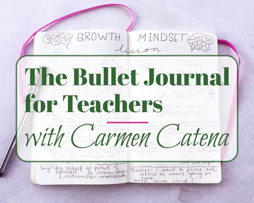 Teachers have so much to balance in order to do the basics of their jobs. Lesson planning, data collecting, etc... How do they do it all? The bullet journal is an excellent solution! Educator Carmen Catena walks through how she sets up her bullet journal for teachers and how it helps her with her duties. She even explains how this system helps her organize her personal life as well!