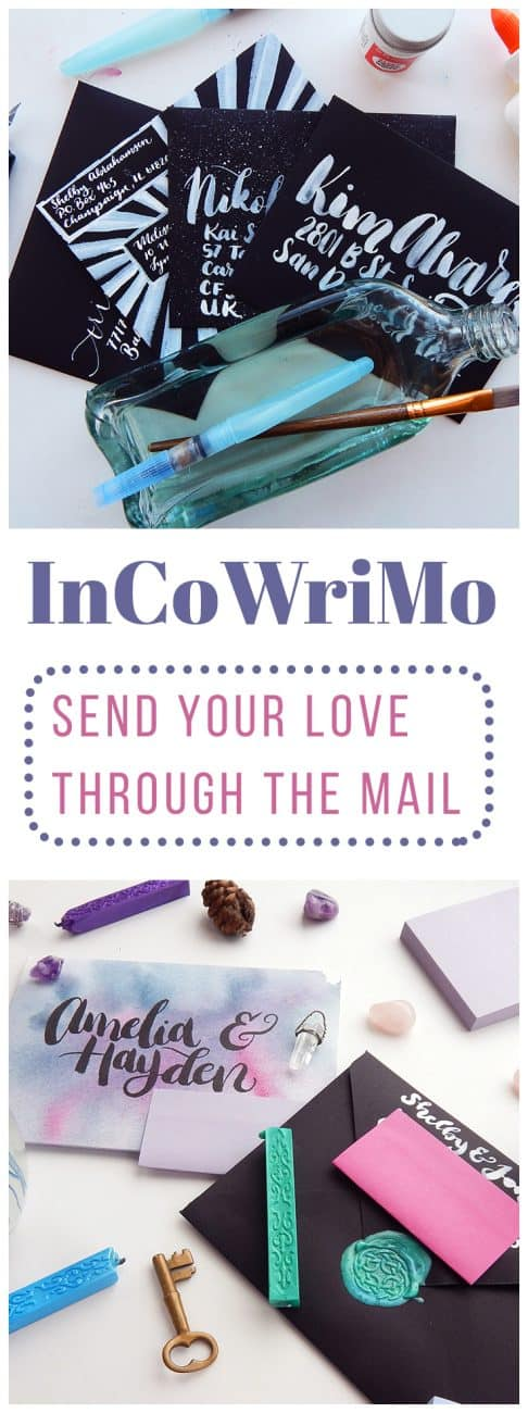 InCoWriMo is a fun little challenge that can have a big impact on loved ones, total strangers, and you! All you need to do is grab some envelopes, stamps, and a pen to make this a memorable month of love and sharing.
