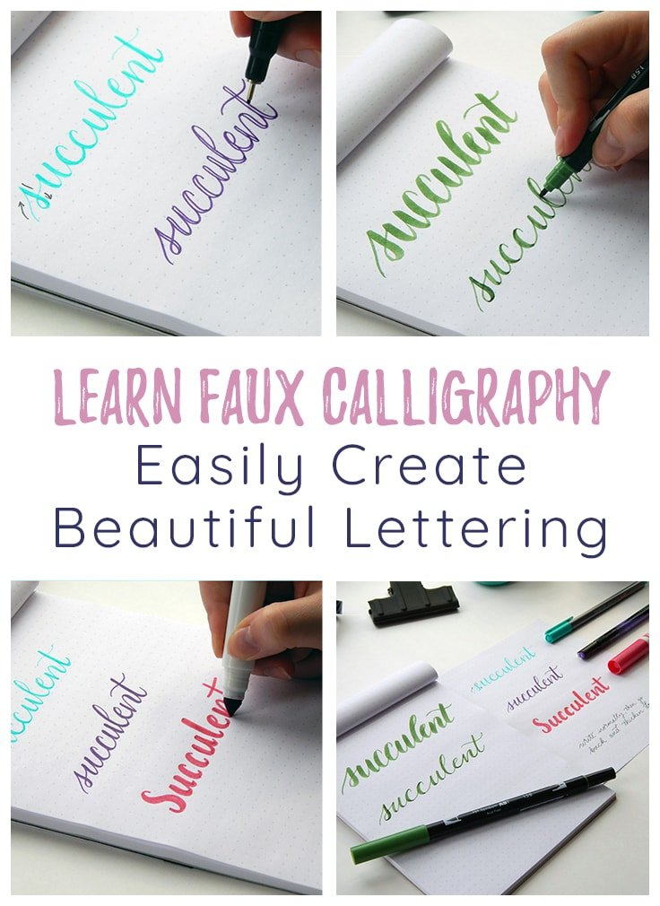 Faux Calligraphy Cover photo & Pin