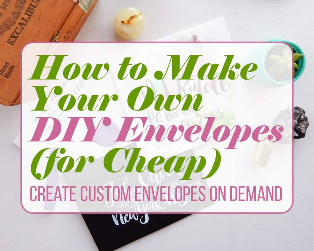 Writing a letter or sending a card is a sweet way to send someone a bit of delight through the mail. What better way to create a first impression than having a stunning envelope? Of course, you can buy a bunch of envelopes and keep them in miscellaneous drawers. But I prefer to make my own DIY envelopes! That way I have complete control over size, paper type, and overall style. After all, I want my cards to pop. And what's great- it's super easy and very cheap! There's no better way to make someone smile than sending them a little bit of handmade love.