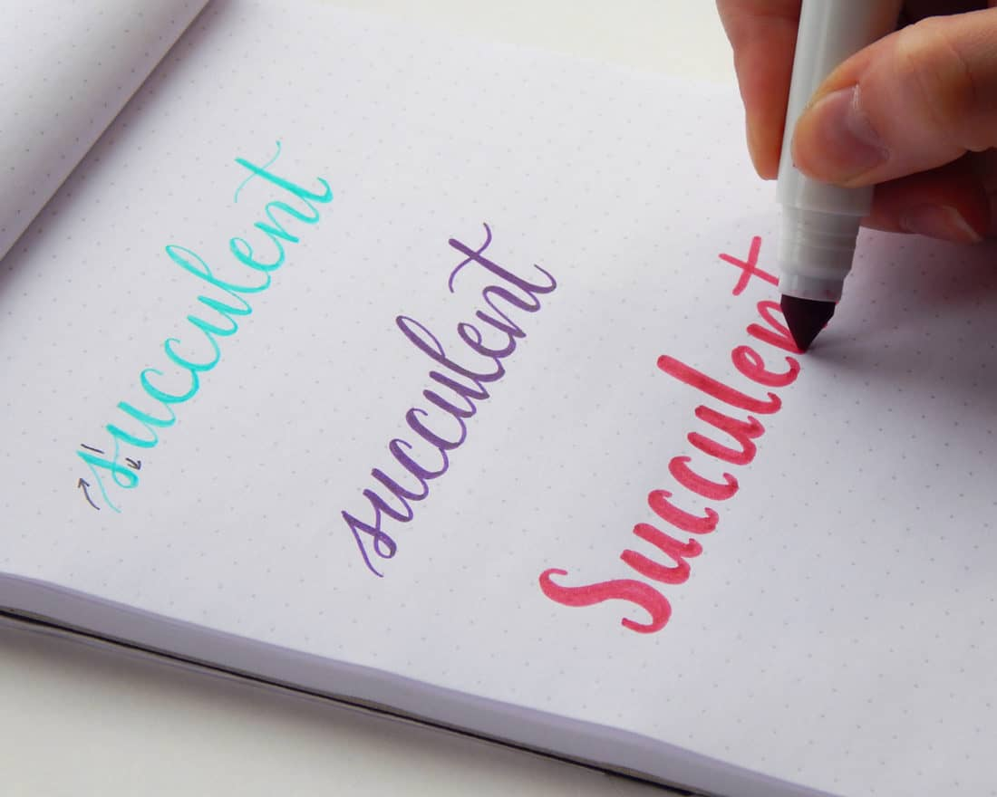 Faux calligraphy learn how to create gorgeous lettering the easy