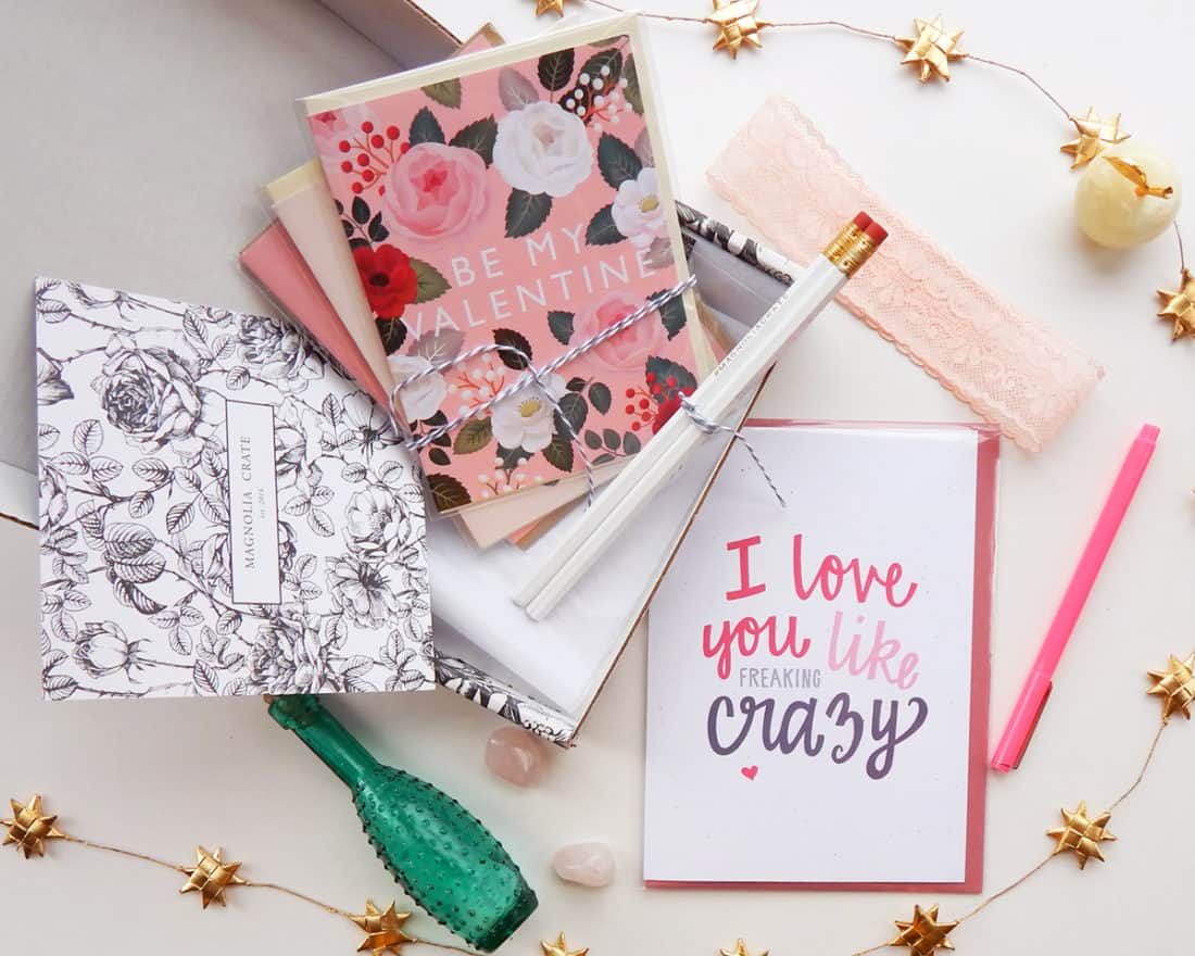 Everyone can be sweet for Valentine's Day. But real romance lasts for longer than a day - it's a year round effort! One of my favorite ways to keep that spark alive is with the power of romantic cards. When you receive a crate of adorable stationery from Cratejoy every month, this is so easy to pull off! And who doesn't want to be the romantic hero in their love story?