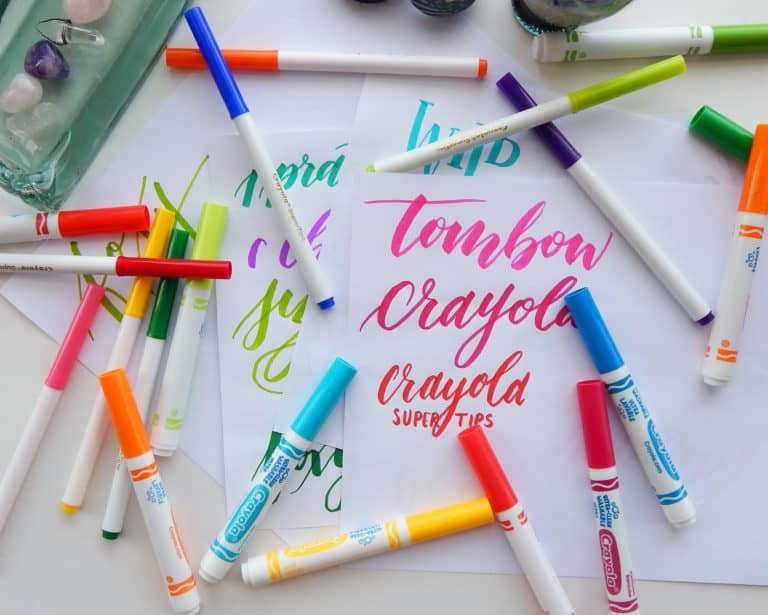 How to Do Crayola Calligraphy – Letter With What You Have