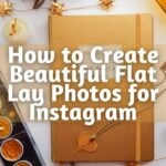 gold metallic bullet journal with text How to Create Beautiful Flat Lay Photos for Instagram