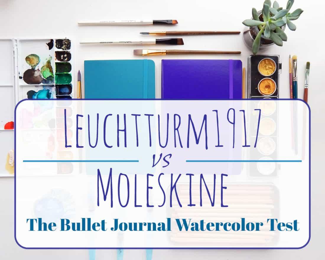 """Header Image for """"Leuchtturm1917 vs Moleskine   The Bullet Journal Watercolor Test"""""""