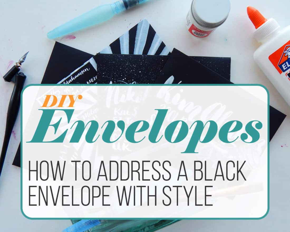 There's nothing quite as snazzy or dramatic as receiving a black envelope in the mail. They are mysterious, slick, and memorable. In this post, you'll learn how to create your own DIY envelopes, plus how to letter black envelopes with ease. It's a ton easier than you think!