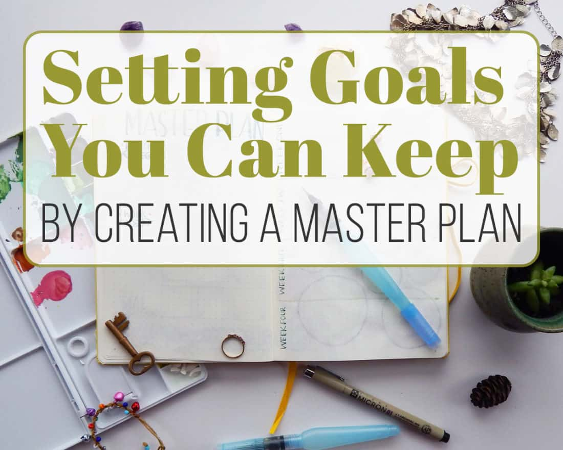 """Article Header that says """"Setting Goals You Can Keep By Creating A Master Plan"""""""