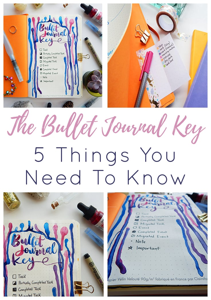 4 Image Bullet Journal Key Short Pin & Cover Photo
