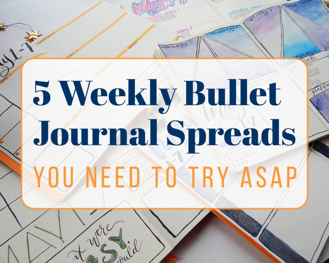 5 Weekly Bullet Journal Spreads You Need To Try Asap Cover photo