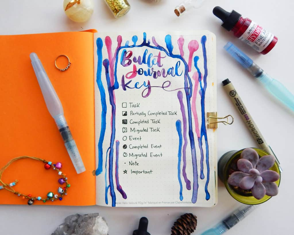 How to start a bullet journal - Bullet journal key