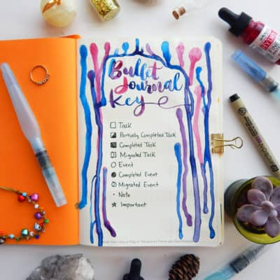 A Simple Guide to the Perfect Bullet Journal Key