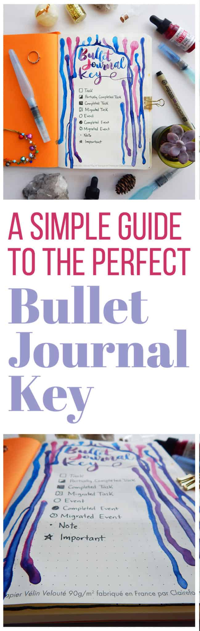 A bullet journal key is something that is super easy to do and can have many benefits. Check out how this simple bullet journal key can help increase your efficiency and help you gain confidence in your bullet journal!