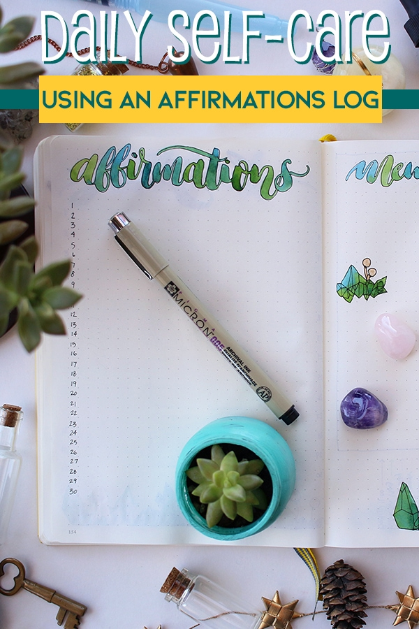 Affirmations Log Cover Photo & Pin