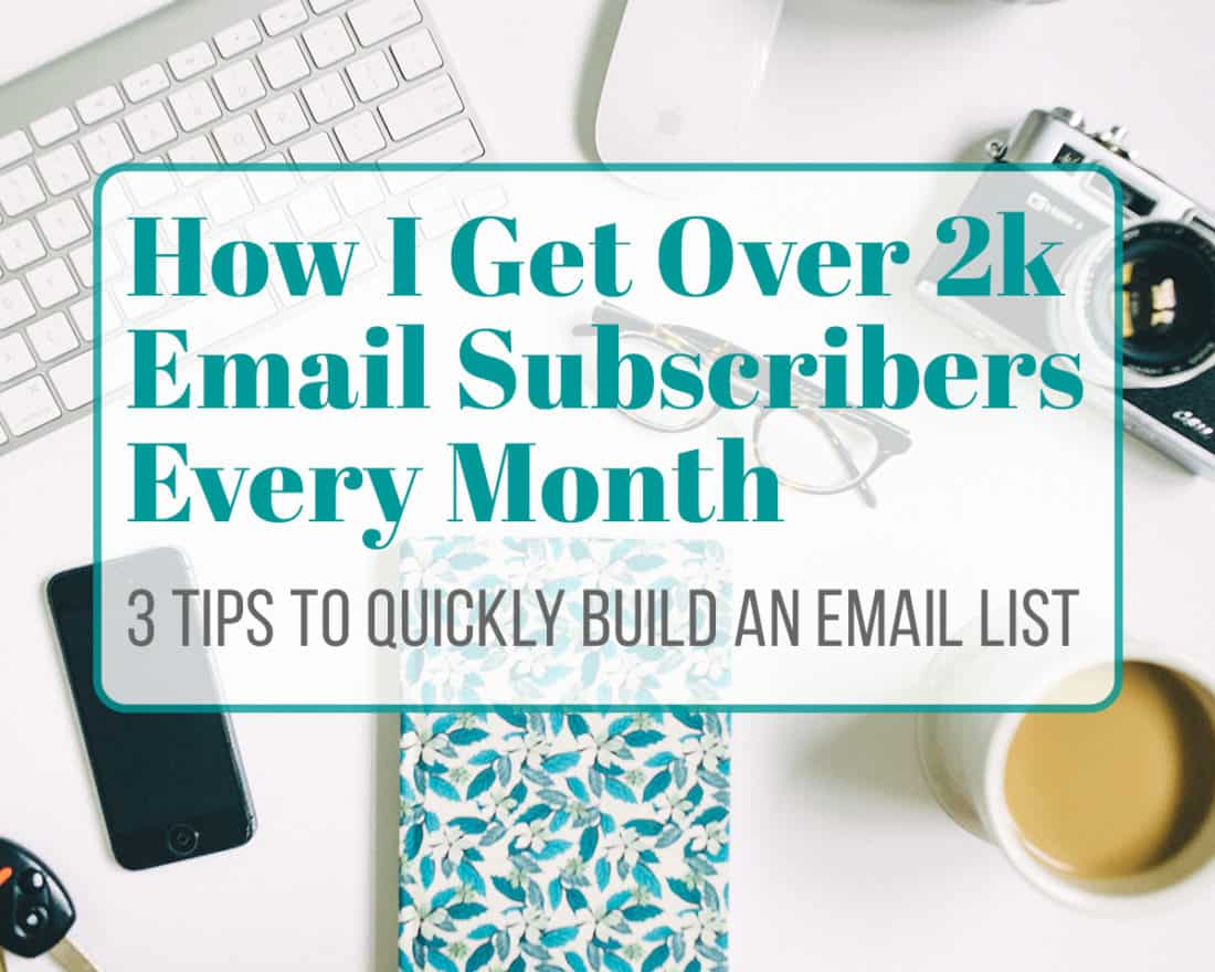When I first started blogging, I had no idea what I was doing. I didn't know what was important, what was a waste of time, or anything in between. The idea of an email list made me nervous, and I put it off for months because it scared me. Turns out, it's extremely important to build an email list early. Now I get over 2000 new subscribers every month. It's simple, really! These three little tips that will make your email list grow like crazy.
