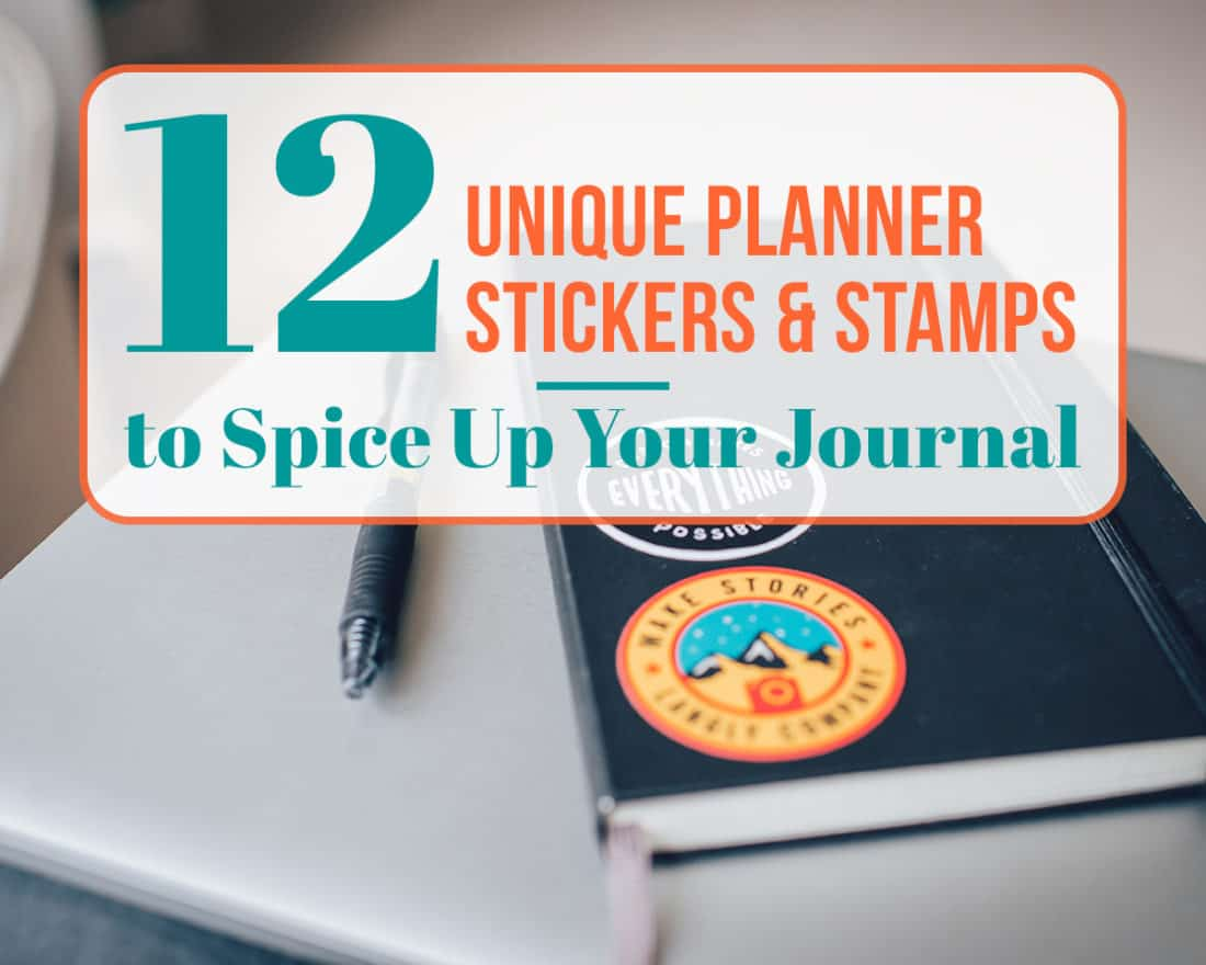 Sometimes you just need to spice things up. But there are just so many options to choose from when it comes to bullet journal decorations! Thankfully, this post has 12 unique planner stickers and stamps to get your creative juices flowing!