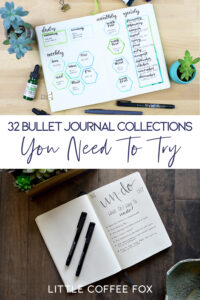 Bullet Journal Collections Cover Photo and Short Pin