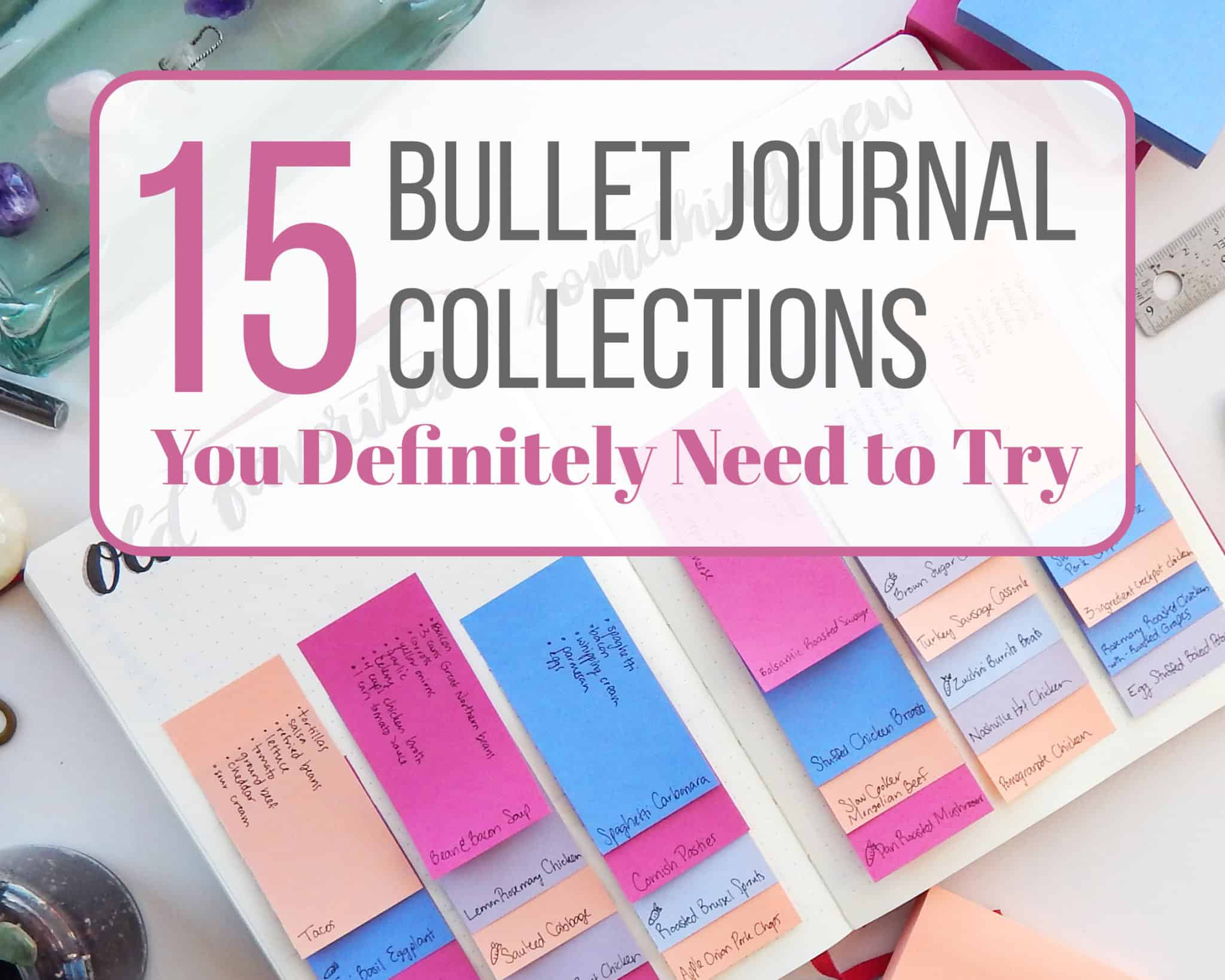 15 bullet journal collections you definitely need to try littlecoffeefox. Black Bedroom Furniture Sets. Home Design Ideas