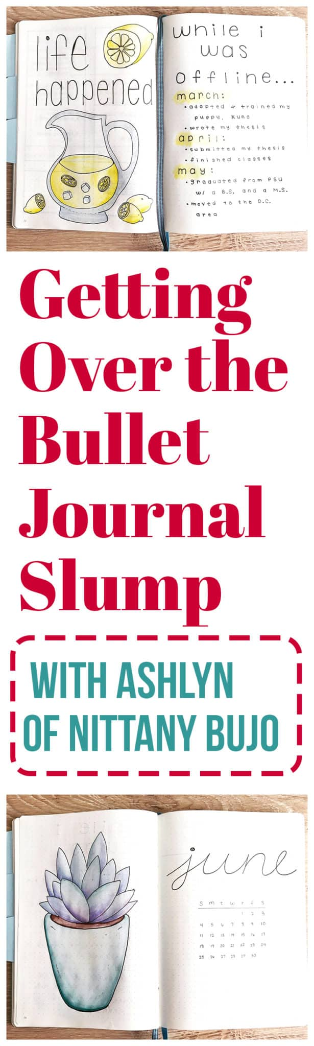 Everyone who has fallen in love with the bullet journal has had to deal with the dreaded bullet journal slump at some point or another. You know, where you suddenly feel unmotivated and can't be bothered to pick up your journal? Ashlyn of Nittany Bujo talks about her recent bullet journal slump and how to pull yourself out of it when it hits you.