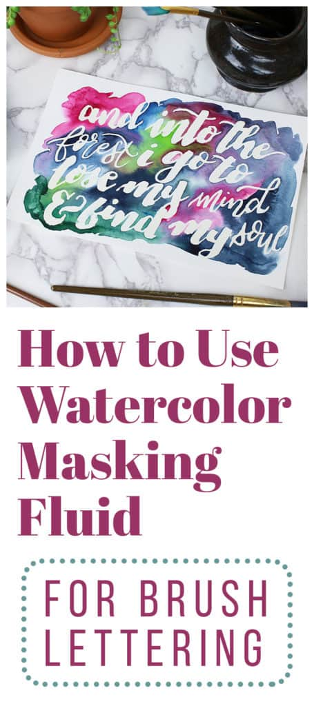 Watercolors are just plain awesome. And one of the coolest ways to up your watercolor game is to use watercolor masking fluid. This post shows you how to create gorgeous effects in your brush lettering and what you need to make it happen.