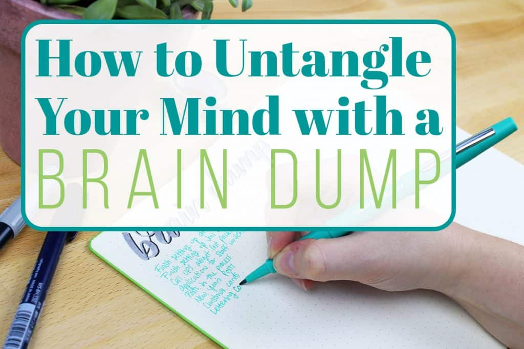 image about Brain Dump Worksheet named How towards Untangle Your Thoughts with a Mind Dump LittleCoffeeFox