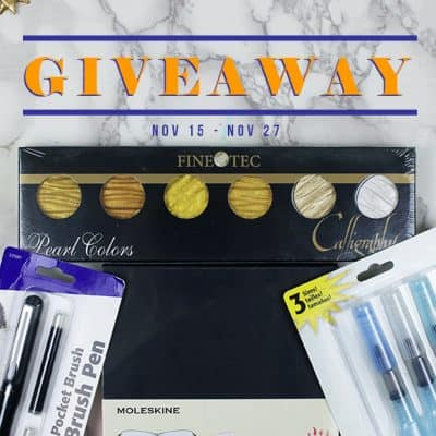 Watercolor Planner Starter Kit Giveaway – CLOSED