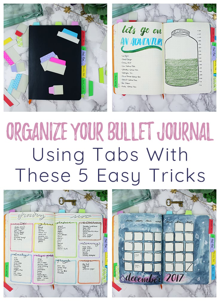 Organize your bullet journal with tabs pin & cover image