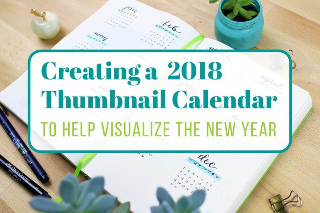 2018 Thumbnail Calendar